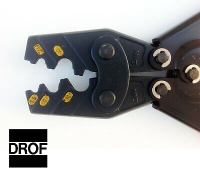 Drof Crimping Pliers 16 - 4 Awg Ratcheting Mechanical Crimper Tool Terminals Etc
