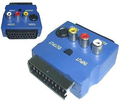 ADATTATORE VIDEO SCART RGB a RCA 3 x RCA + S-VIDEO + SWITCH COMMUTATORE usato  Italia