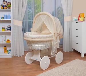 WALDIN Baby Bollerwagen,Stubenwagen XXL NEU !!! Gelb/ Beige