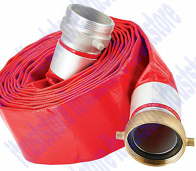 Roll Flat Trash Water Waste Pump Discharge Evacuation Pvc Hose 3 X 25 Ft.