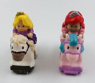 Fisher Price Little People Klip Klop Princess Horse Disney Rapunzel and Belle