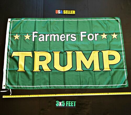 Donald Trump 2020 Flag FREE FIRST CLASS SHIP Farmers For Trump Army USA New Sign
