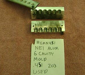 . NEI SIX CAVITY MOLD 451 203 SWC USED MOLD CB 45 ACP COLT BOOLIT   Item# RMN451