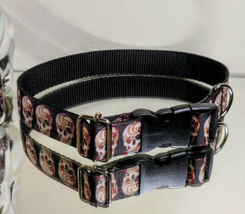 LaGucci Skull Rose Print M Fashion Dog Collar Neck 16-18 In. Ret. 57  - $17.00