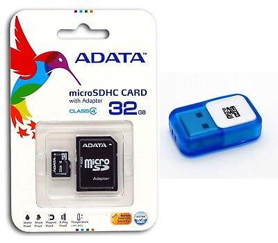 A-DATA 32 GB Class 4 Micro SD MicroSDHC Flash Memory Card with USB Reader 32G ()