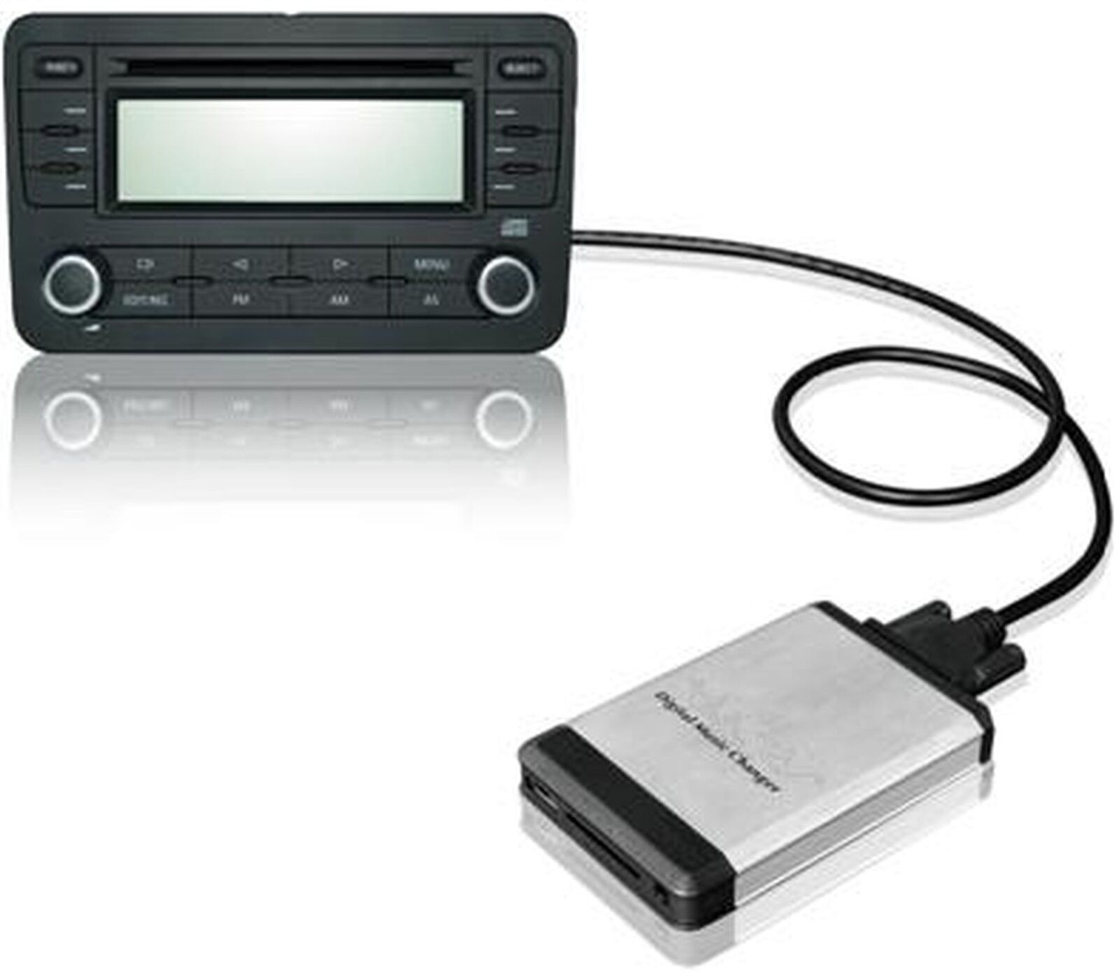 aux in adapter interface f r vw audi f r usb sd karte ebay. Black Bedroom Furniture Sets. Home Design Ideas
