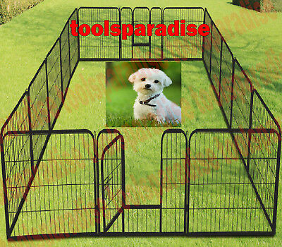 LARGE OUTDOOR Pets Dog Enclosure FENCE Fencing Gate METAL STAND PEN