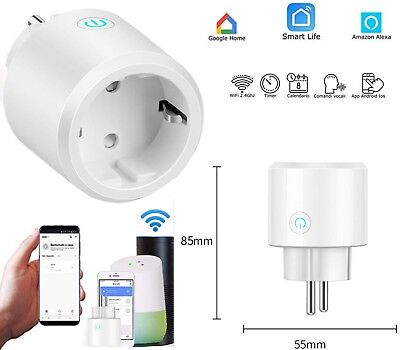 PRESA INTELLIGENTE SMART PLUG WIFI VOICE APP SPINA TIMER GOOGLE HOME AMAZON ECHO