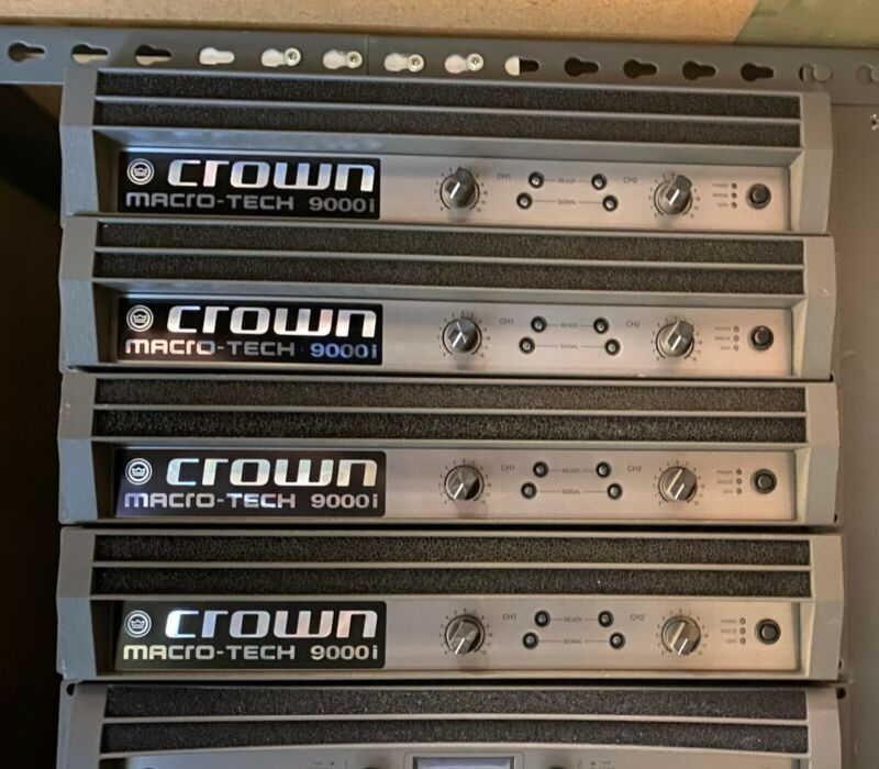 Crown MacroTech 9000i Two-channel, 3500W Power Amplifier Free Shipping