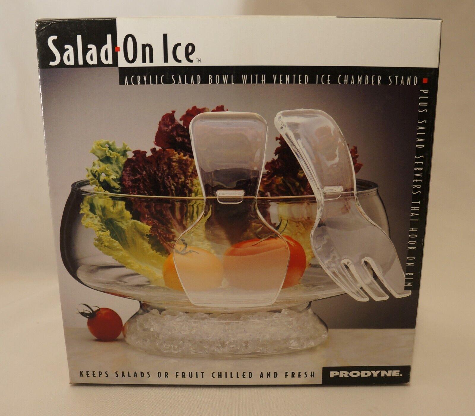 Prodyne Salad On Ice Acrylic Salad Bowl With Serving Utensils - Shatterproof - $4.50