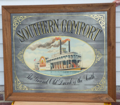 26x30 Southern Comfort Mirror w Riverboat Grand Old Drink of South Mancave Decor