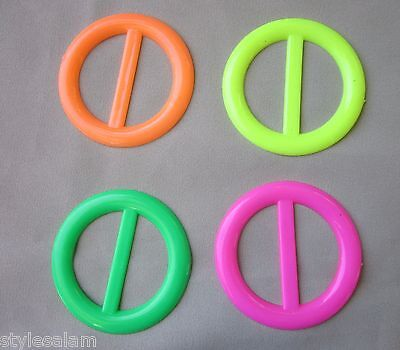 Tee shirt clip pull holder circle ring ONE neon green yellow orange hot - Tee Shirt Clips