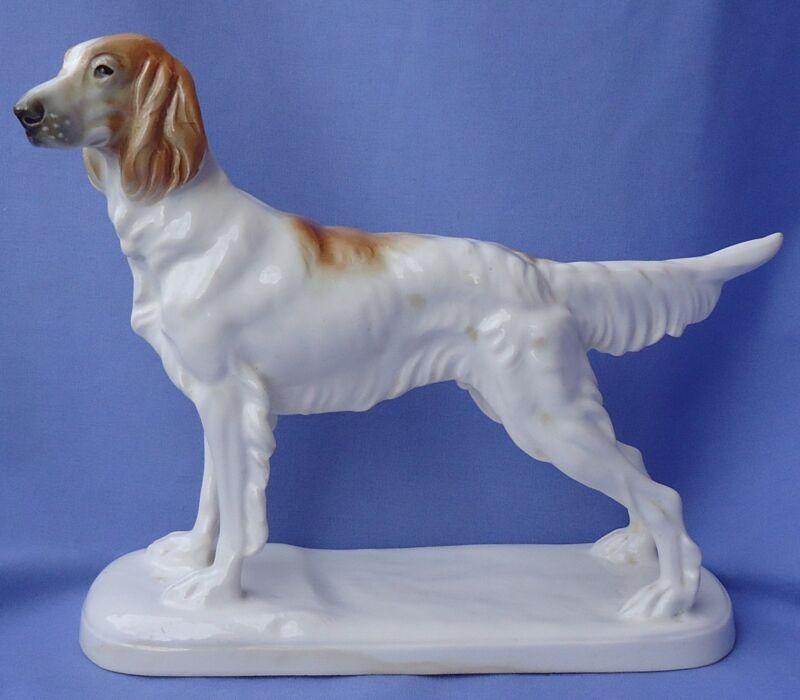 """1930 ORANGE BELTON ENGLISH SETTER HUNTING DOG GERMANY KATZHUTTE 9"""""""