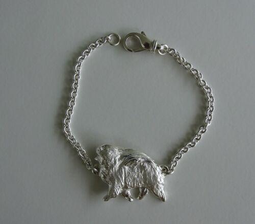 Large Sterling Silver Pomeranian Moving Study Bracelet
