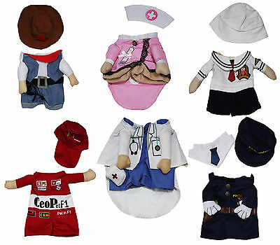 Halloween Party Nurse Doctor Sailor Cowboy Racer Pet Dog Dress Puppy Cat Costume](Dog Cowboy Halloween Costumes)