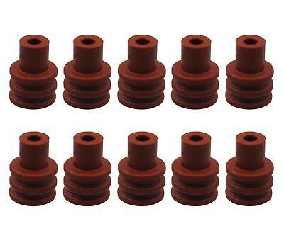 10x Seal Dichtung Tülle für Stecker Steckverbinder VW 357 972 741A 357972741A