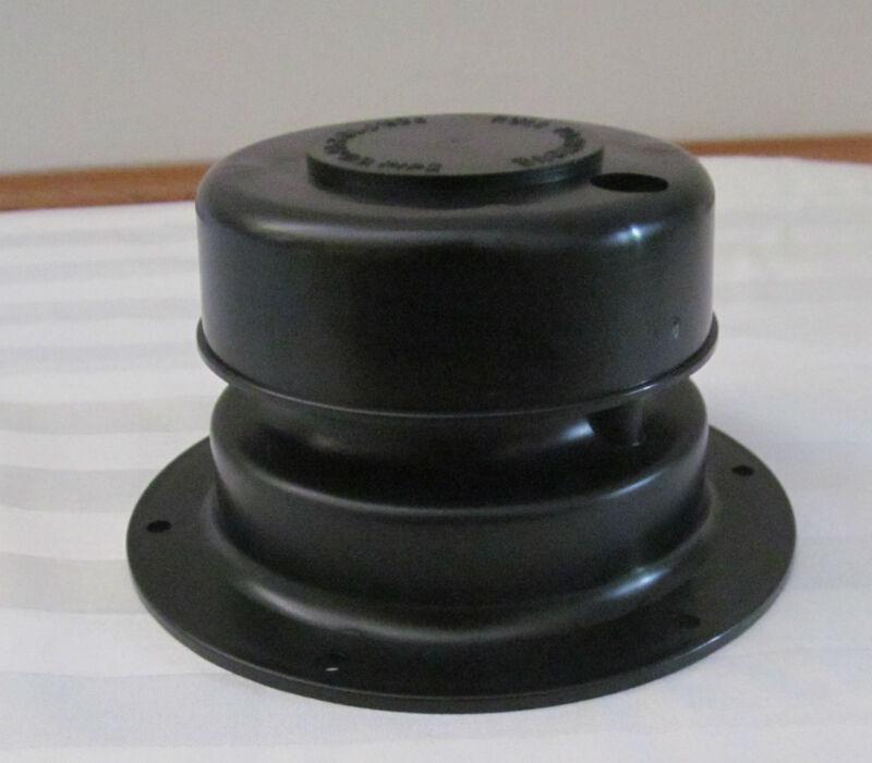"BLACK Plastic Plumbing Sewer Vent Cap 1"" to 2 3/8"" OD Pipe RV Trailer Camper"