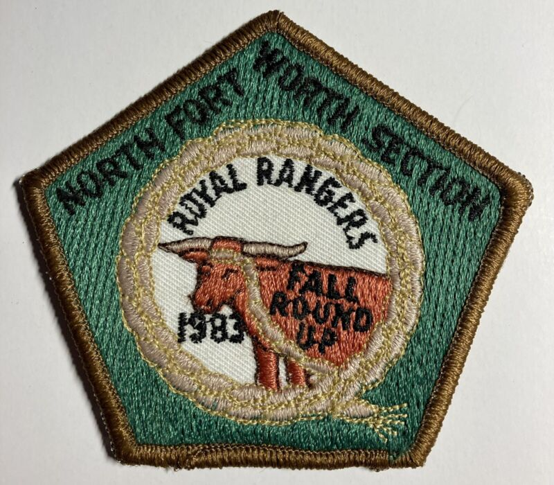 Royal Rangers Patch 1983 Longhorn North Fort Worth Section Tx Fall Round Up