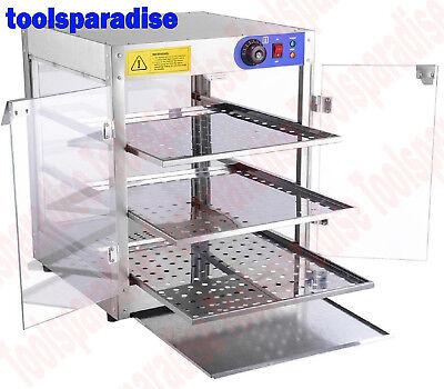 Convenience Store Hot Food Merchandiser Display Case Stainless Steel