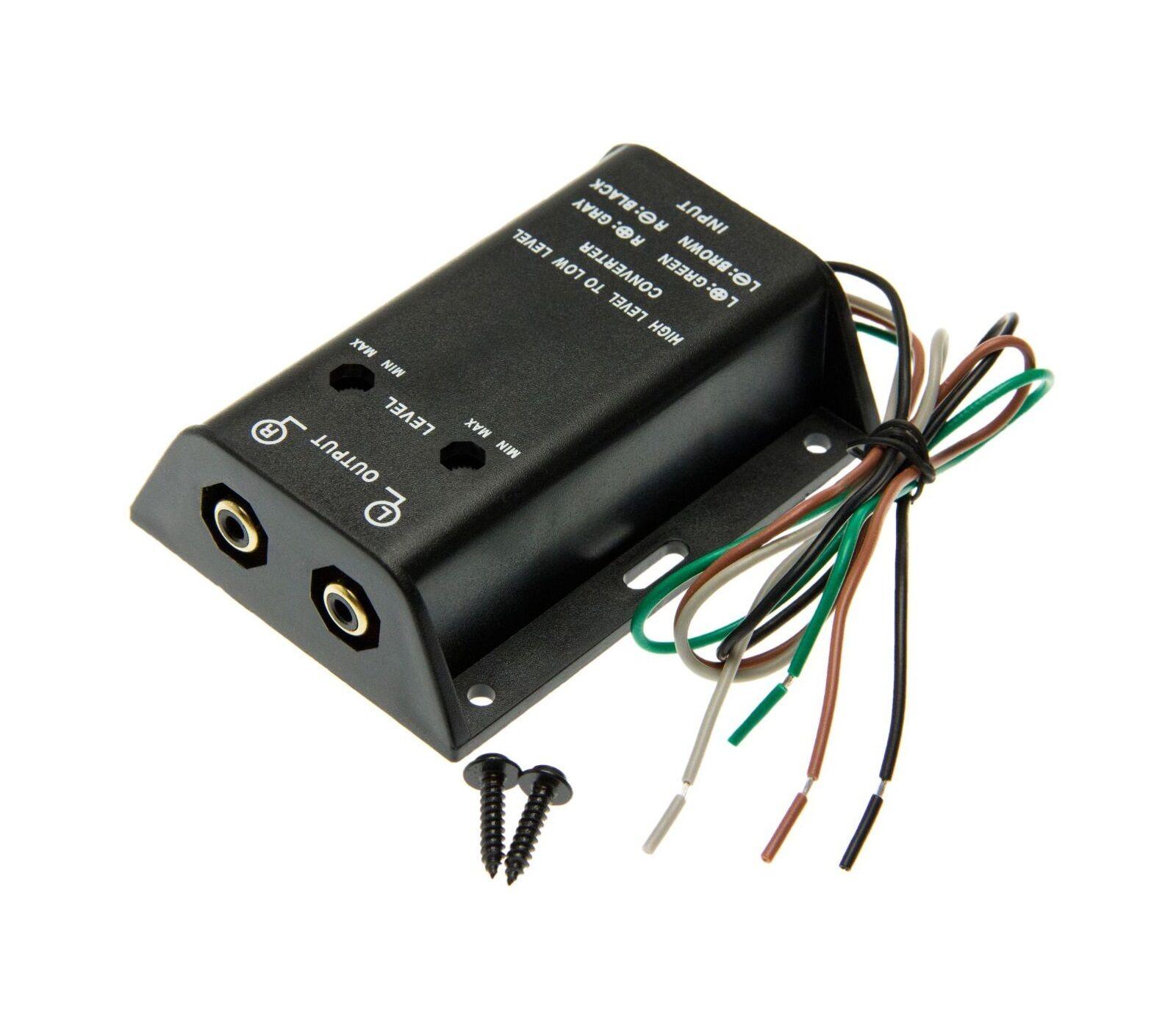 verst rker chinch konverter adapter auto radio kabel. Black Bedroom Furniture Sets. Home Design Ideas