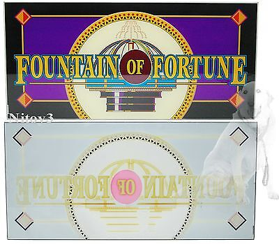 "Slot Machine Glass Panel "" Fountain of Fortune """