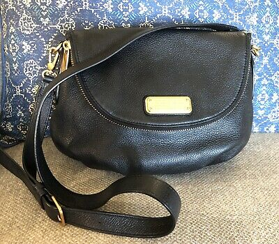 MARC BY MARC JACOBS Q NATASHA Black Leather Crossbody Shoulder