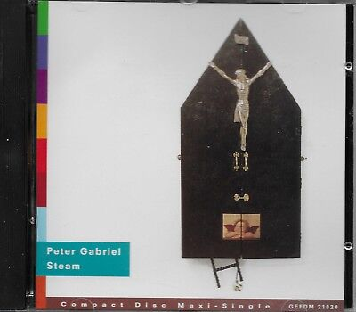 PETER GABRIEL  Steam  CD maxi-single with PicCover (4 tracks)
