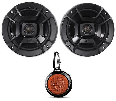 """(2) Polk Audio DB652 6.5"""" 300w Car/Marine/Motorcycle Speakers+Speaker"""