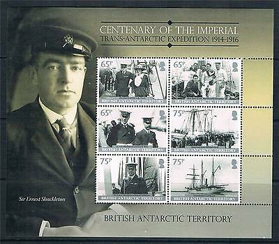 British Antarctic 2013 Imperial Expedition 1914-16 6v MS NEW ISSUE MNH
