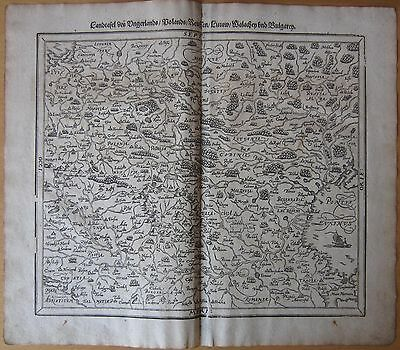MÜNSTER/MUNSTER: Cosmographia Large Map of Poland  - 1628