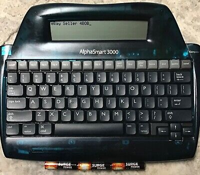 Alphasmart 3000 Factory Reset Word Processor Tested With New Batteries