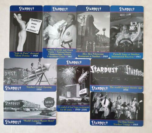 Las Vegas Stardust Casino Room Keys - Complete Set of 9