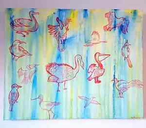Birds painting Eveleigh Inner Sydney Preview
