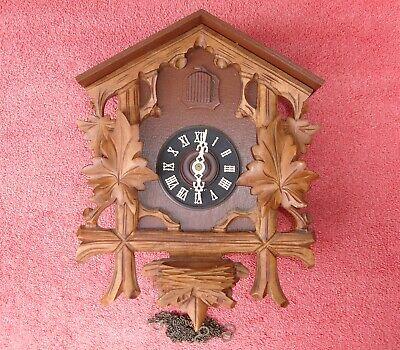 Schmeckenbecher Linden German Vintage Cuckoo Clock For Parts or Repair