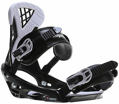 Sapient Wisdom Snowboard Bindings Black/White Mens Sz M/L (8-12)