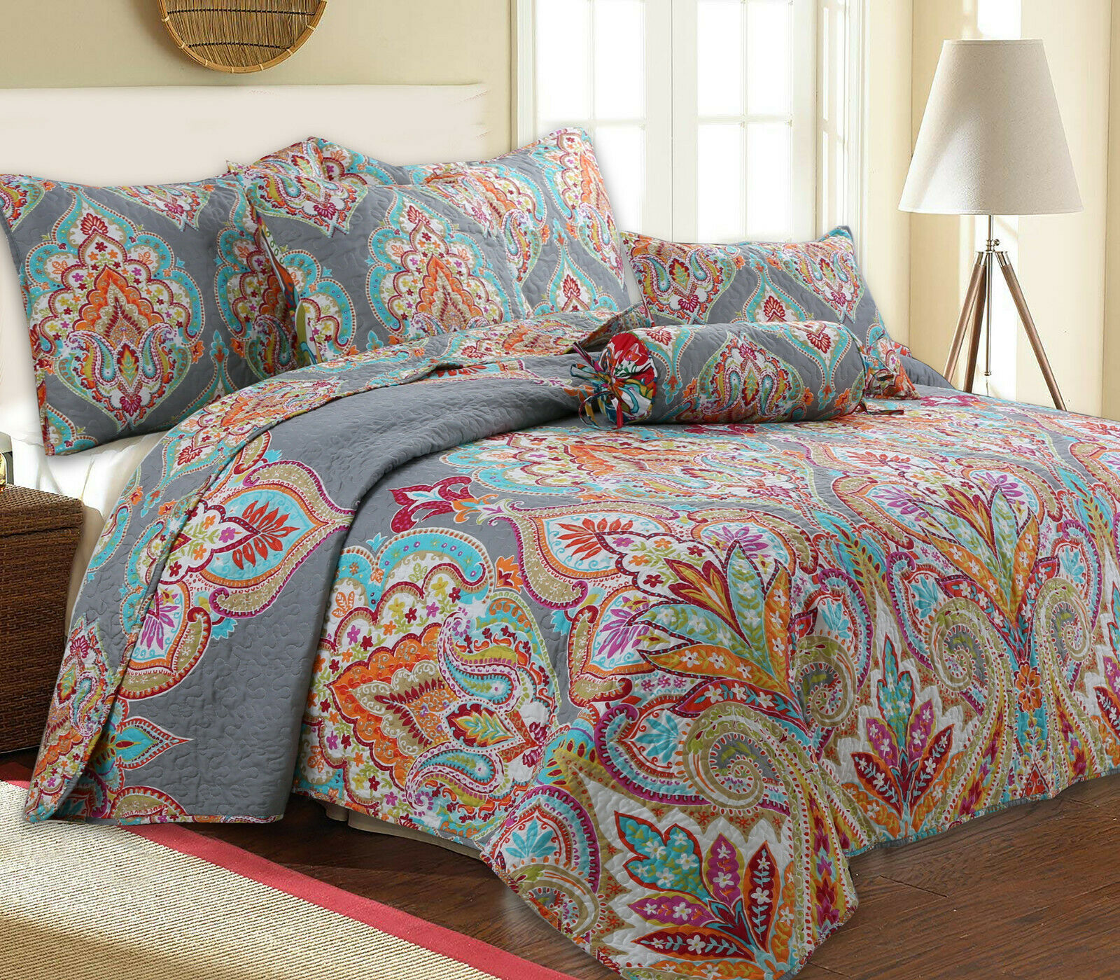 Annalise 3-Piece Reversible Quilt Set, Bedspread, Coverlet