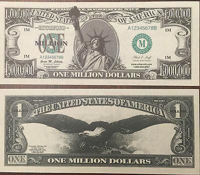 10  One Million Dollar Bills Joke Money Fake Trick Novelty Funny Gag Gift Toy