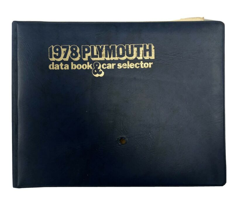 1978 Plymouth Data Book and Car Selector ORIGINAL NOT REPRINT