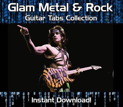 GLAM METAL & ROCK GUITAR TAB TABLATURE DOWNLOAD SONG BOOK SOFTWARE TUITION (Metal Guitar Tab Book)