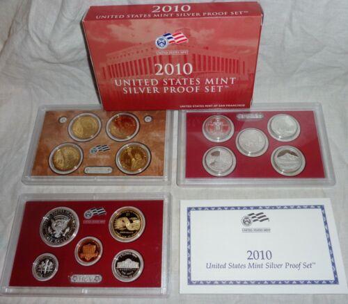 2010 UNITED STATES MINT SILVER  PROOF SET--MINT--ORIGINAL BOX--((FREE SHIPPING))