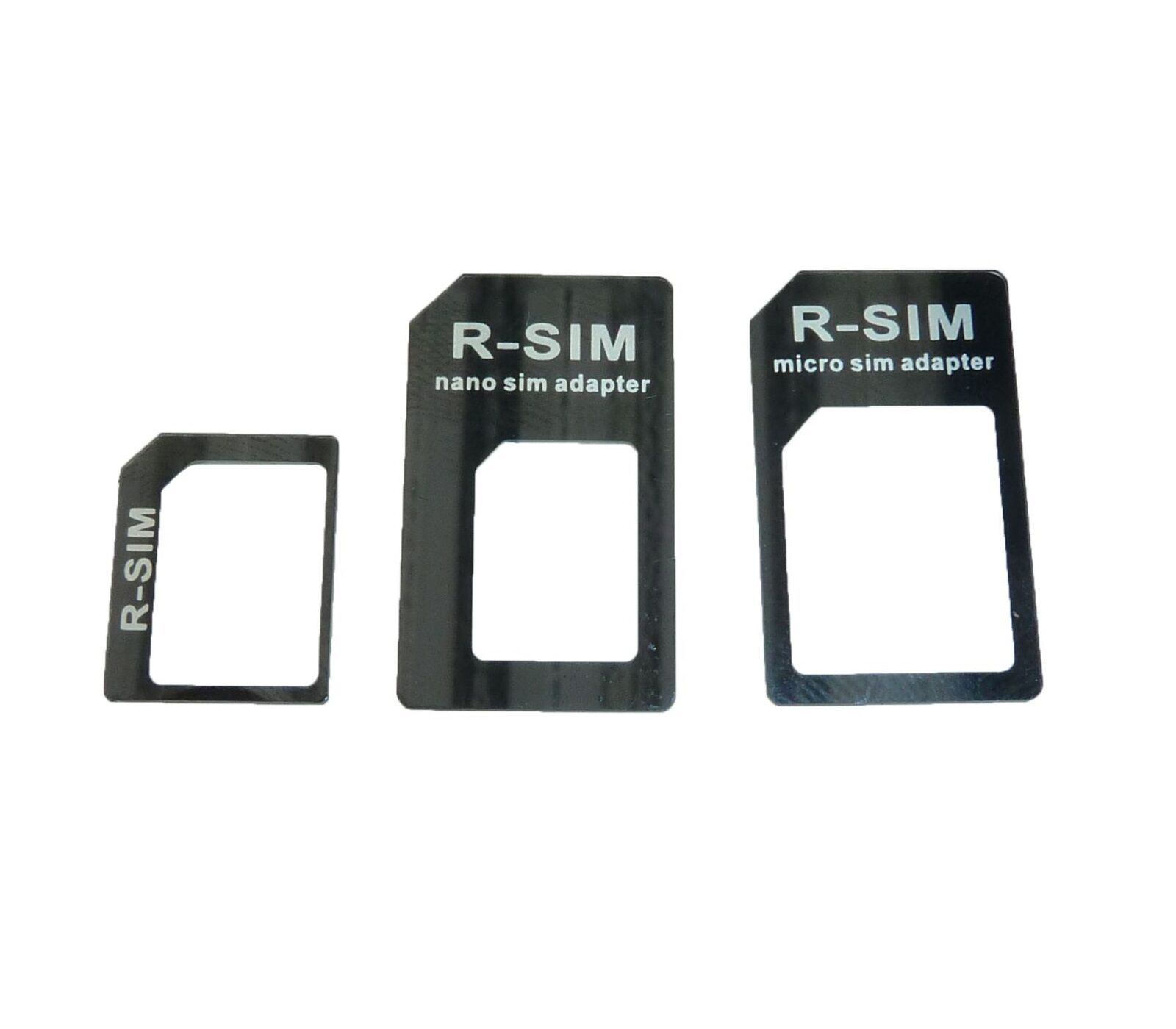 nano sim card adapter 3 in 1 and micro sim adapter iphone 4 4s iphone 5 ebay. Black Bedroom Furniture Sets. Home Design Ideas