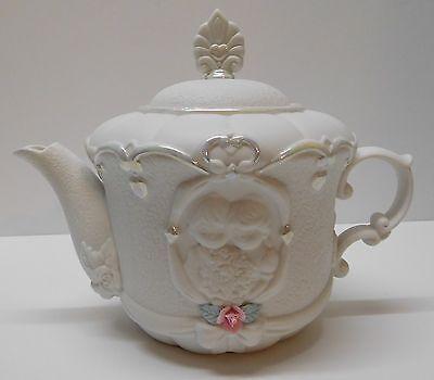 Happy Anniversary Wedding Song Music Box Teapot Bride Groom Precious Moments