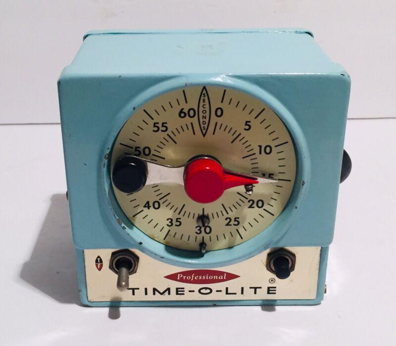 Vintage Professional Time-O-Lite Model P-59-4R Darkroom Timer - Tested