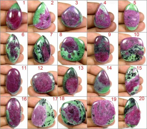 NATURAL RUBY ZOISITE CABOCHON MIX SHAPE LOOSE AAA+ GEMSTONE FREE SHIPPING RZ-B