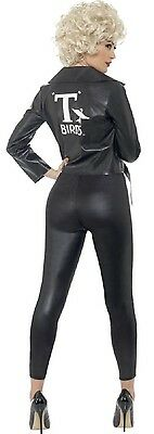 Ladies Sexy Grease Musical Bad Sandy T-Bird TV Film Fancy Dress Costume Outfit