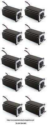 10pc Nema23 570ozin 5a 14 Dual Shaft Stepper Motor Kl23h2100-50-8b