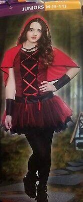New Juniors Teen Red Hooded Cutie Little Red Riding Hood M, 9-11, 3 Pc Set](Teen Little Red Riding Hood Costume)