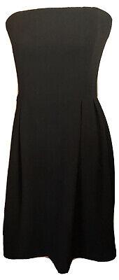 H&M Strapless Black Dress Size 12