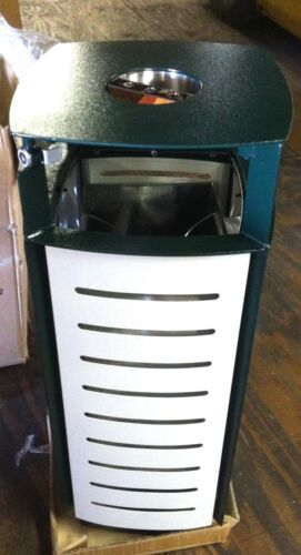 TRASH CAN with ASH tray Commerical Grade STEEL FRAME * NEW