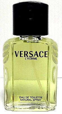 VERSACE L'Homme Cologne for Men 3.4 OZ 100 ML EDT Spray NEW IN WHITE TESTR BOX